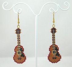 Beaded Classic Guitar Earrings