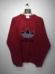 Adidas sweatshirt Size X/Large (but Fits Oversized) £36 Website➡️ www.retroreflex.uk #Adidas #vintage #oldschool #truevintage #sweatshirt