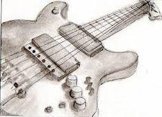 Risultati immagini per electric guitar drawings