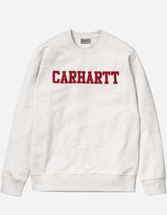 Carhartt WIP - College Sweat ash heather chili