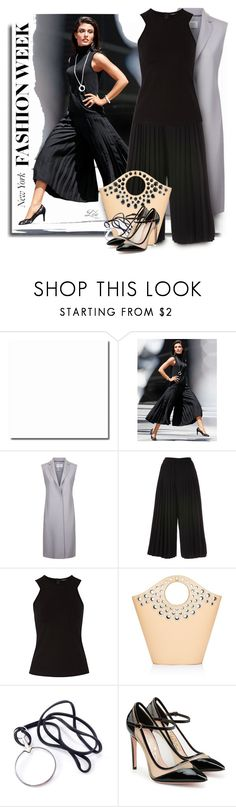 """""""What to Wear to NYFW"""" by breathing-style ❤ liked on Polyvore featuring Harris Wharf London, Raoul, Elizabeth and James, Hermès and Salvatore Ferragamo"""