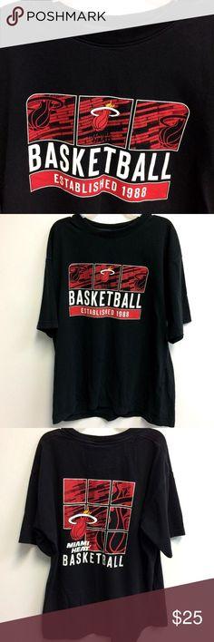 712a60b81 NBA Miami Heat T Shirt Black Established 1988 XL