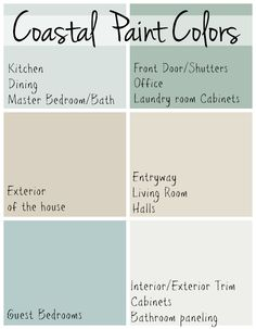 Coastal Paint Colors - The Lilypad Cottage Parents Florida Beach House Paint Colors, March 2018 The decoration of home is actually an exhibit space that reveals ou. Coastal Paint Colors, Exterior Paint Colors, Paint Colors For Home, Cottage Paint Colors, Aqua Paint Colors, Coastal Color Palettes, Sand Color Paint, Kitchen Paint Colours, Paint Colours For Bedrooms