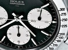 Historical Perspectives: The Very First Rolex Daytona, Explained (Or, What Is A Double-Swiss Underline Daytona?) - HODINKEE Rolex Cosmograph Daytona, Rolex Daytona, Daytona Watch, Fine Watches, Vintage Watches, Clock, Watch, Nice Watches, Antique Watches