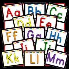 word wall printables - printable ABC letters for kindergarten classroom