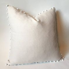 Cream Linen Throw pillow cover / Belgian Linen pillow /