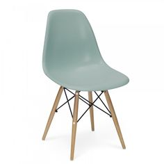 Eames Style Silver / Blue DSW Chair