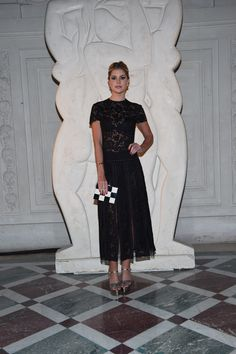 Lala Rudge in a Fall 2016 dress at the Valentino Happening Party celebrating the Fall/Winter 2016-17 show on March 8th 2016.