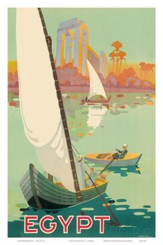 Egypt The Nile River c.1930s Prints by H. Hashim at AllPosters.com