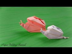 Origami Snail - YouTube