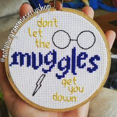 Small Harry Potter inspired cross stitch by NotYourGrammies