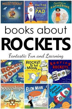Excellent books about rockets for kids. Fiction and nonfiction rocket books for space theme, rocket theme, or preschool science. Preschool Books, Preschool Science, Toddler Preschool, Science Toddlers, Preschool Pictures, Toddler Chores, Preschool Winter, Science Books, Preschool Ideas