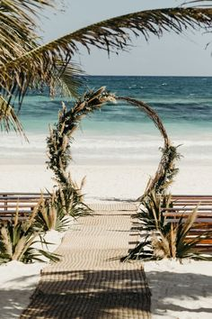 Jun 18, 2020 - If you know Junebug, you know we love a Tulum wedding! Diana and Zach's oceanfront wedding at Akiin Beach Tulum has us all dreamy of our next sunny If you know Junebug, you know we love a Tulum wedding! This wedding at Akiin Beach Tulum has us all dreamy of our next sunny vacation. Boho Beach Wedding, Beach Wedding Inspiration, Hawaii Wedding, Dream Wedding, Wedding Ideas, Weddings At The Beach, Rustic Beach Weddings, Beach Wedding Arches, Wedding Goals