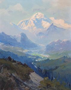 Sydney Laurence (1865–1940), Mt. McKinley, oil on canvas laid on board, 20 x 16 in, JHAA 2012 Sold: $57,500