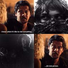 I think he was talking about Octavia but still he's done it several times for Clarke too! Bellarke Fanfiction, The 100 Characters, The 100 Quotes, I Dont Fit In, The 100 Show, Bob Morley, Tv Couples, Girl Meets World, The Hundreds