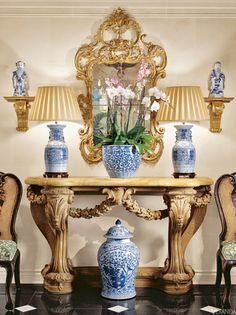 Blue and White Porcelain - Delft and Chinoiserie China - Veranda