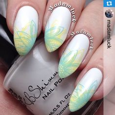 Perfect summer nail art! MUST try these nail stamps from UberChic Beauty! @madamluck
