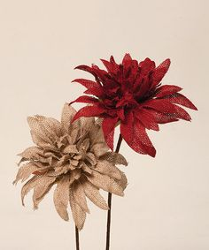 This Homespun Burlap Dahlia - Set of Four by ZiaBella is perfect! #zulilyfinds