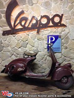 Foto do Dia - Faro Basso Piaggio Vespa, Vespa Scooters, Vespa Gtv, Motos Vespa, Lambretta Scooter, Scooter Motorcycle, Fast Scooters, Vespa Vintage, Motor Cafe Racer