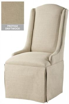 Custom Wingback Parsons Chair With Skirt