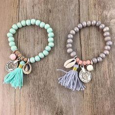 Cowrie Tassel Bracelet