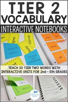 Tier 2 Vocabulary Interactive Notebook Units with Workbook Pages and graphic organizers- grade vocabulary grade vocabulary grade vocabulary grade vocabulary English Language Learners ELD tier two academic vocabulary teaching activity ideas Vocabulary Notebook, Academic Vocabulary, Teaching Vocabulary, Vocabulary Building, Teaching Activities, Vocabulary Words, Vocabulary Ideas, Preschool Speech Therapy, Thing 1