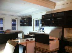 kjøkkenet under oppføring..
