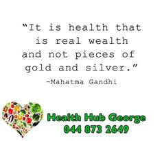 """""""It is health that is real wealth and not pieces of gold and silver."""" Mahatma Gandhi #SundayMotivation #HealthHub"""