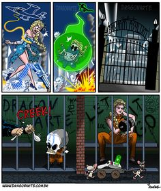 """Elsa and Icy-Skullarte get sent to Arkham Asylum by Wonder Woman and Green Lantern;"" with special guests Pinky and The Brain stealing Rick's portal gun"" Marvel Funny, Marvel Vs, Marvel Dc Comics, Cartoon Memes, Funny Cartoons, Funny Jokes, Funny Images, Funny Pictures, Superhero Memes"