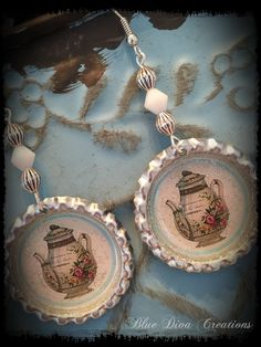 A personal favorite from my Etsy shop https://www.etsy.com/listing/247715480/antique-teapot-bottle-cap-earrings