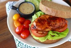 Honey Glazed Chicken Sandwich by SeasonWithSpice.com