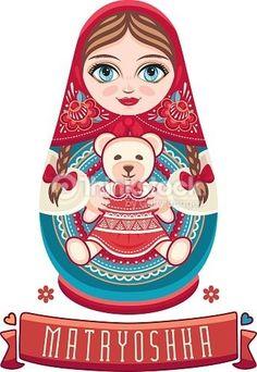Matryoshka: all our Russian Nesting dolls - Russian treasures Matryoshka Doll, Kokeshi Dolls, Russian Doll Tattoo, Doll Drawing, Scandinavian Folk Art, 1 Tattoo, Vintage Poster, Jolie Photo, Wooden Dolls