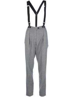 Moschino Cheap And Chic dogtooth trouser and braces