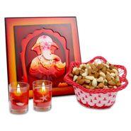 Framed Ganesh Idol With Candles