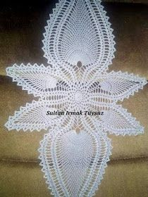 This Pin was discovered by sel - Salvabrani Crochet Bedspread Pattern, Crochet Table Runner Pattern, Crochet Placemats, Crochet Mandala Pattern, Crochet Patterns, Crochet Buttons, Thread Crochet, Lace Doilies, Crochet Doilies