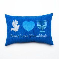 ''Peace Love Hanukkah'' Throw Pillow