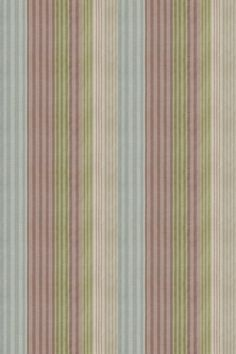 Burlington Vintage (2902/284) - Prestigious Fabrics - A pretty multi width stripe which co-ordinates with the other designs.  Pink, blue beige, cream and green with a distressed effect. Cotton linen mix. Please request sample for true colour and texture.