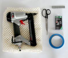 Tools needed for installing stair runner