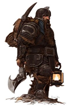 m Dwarf Fighter Plate Axe Crossbow helm lantern backpack traveler underdark mountain hills forest rough midlvl Dungeons And Dragons Art, Dungeons And Dragons Characters, Dnd Characters, Fantasy Characters, Fantasy Dwarf, Fantasy Rpg, Medieval Fantasy, Fantasy Artwork, Male Character