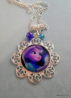 Ornate Elsa Necklace Inspired by the Movie Fro. Starting at $1 on Tophatter.com!