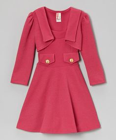 Another great find on #zulily! Fuchsia A-Line Dress & Bolero - Girls by Just Kids #zulilyfinds