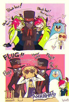 black hat x dr flug at DuckDuckGo Art Manga, Anime Art, Cartoon Network, Fan Art Naruto, Fan Art Pokemon, Art Harry Potter, Gurren Laggan, Chibi, Hat Organization