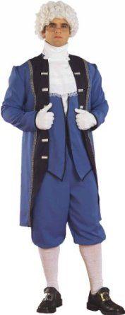 Forum Men'S Colonial American Complete Costume, Blue, Standard  Forum Novelties