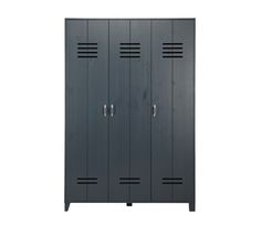 Locker wardrobe for teens - Brushed dark grey Boys Jungle Bedroom, Shared Boys Rooms, Teen Rooms, Armoire, Tall Cabinet Storage, Locker Storage, Superhero Room, Dressing, Kidsroom