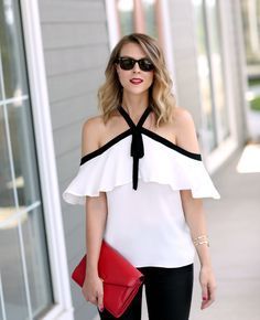 Not sure about this off the shoulder top but I think I could deal with off the shoulder if it has a built in safety feature like this