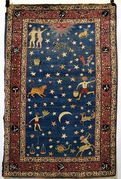 Persian Zodiac, probably Kerman area in Persia, circa 2th century AD, 2.00 m-1.30 m
