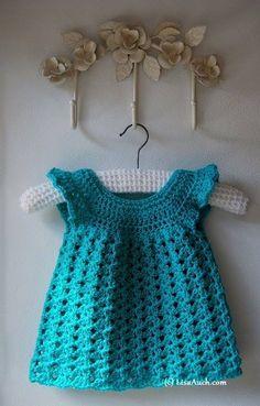 Beautiful Easy Crocheted Baby Dress