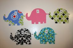 DIY Pick up one Iron on Elephant fabric Applique by JellyPopChick,