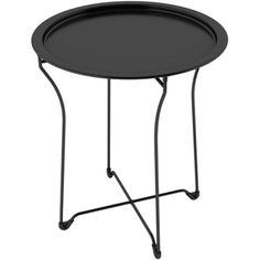 Atlantic Furniture Metal Portable Side Table - spray paint gold