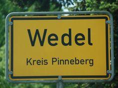 Ortsschild Wedel